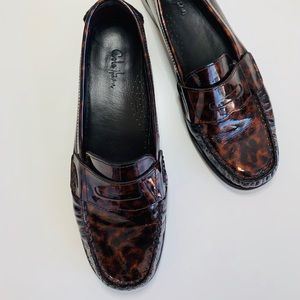 Cole Haan Ryann Leather Penny Heeled Loafers